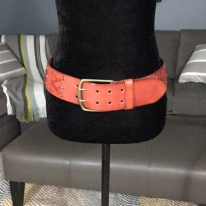 New Lined Pelle Leather Belt From Anthropologie